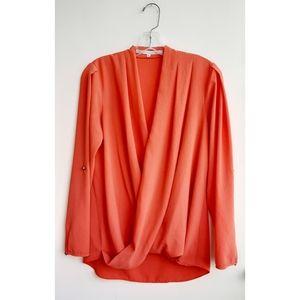 Rachel Rachel Roy Swoop Front Blouse Size M